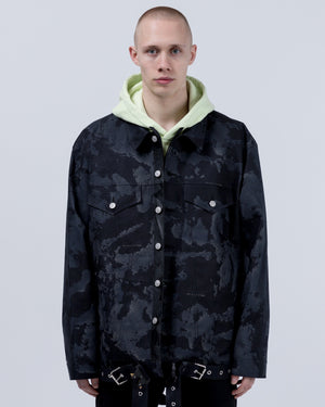 Mackintosh Oversized Denim Jacket in Black