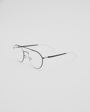 Minttu Glasses in Gold & Jet Black / Gray Gradient