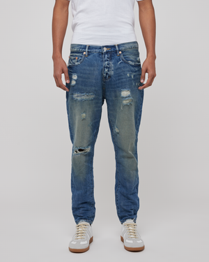 003 Relaxed Fit Denim in Indigo Vintage Distress