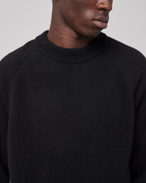 Raglan Sleeve Sweater in Black