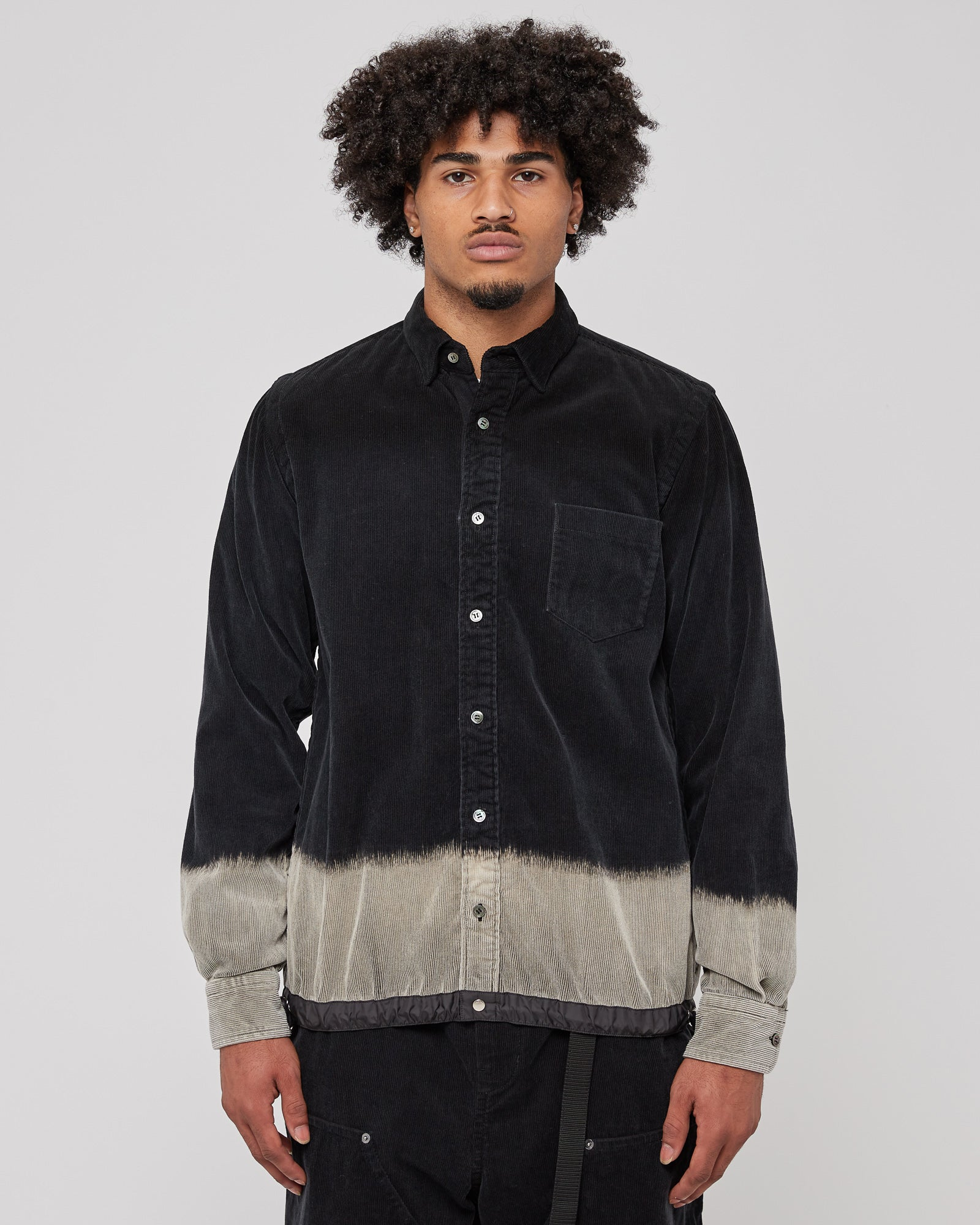 Corduroy Shirt in Black
