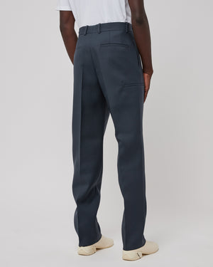 Wool Trouser in Dark Gray