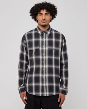 Flannel Reverse Shirt in Black
