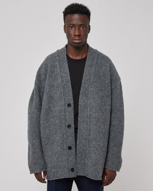 Knit Cardigan in Medium Gray