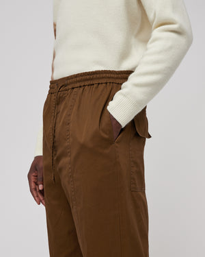 Cropped Pant in Medium Brown