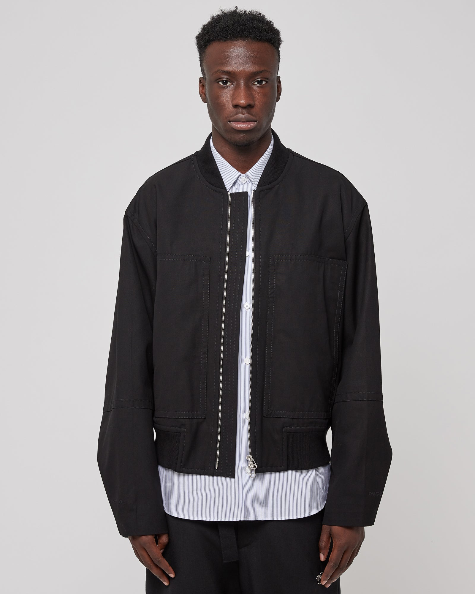 Roden Gray Bomber Jacket in Black