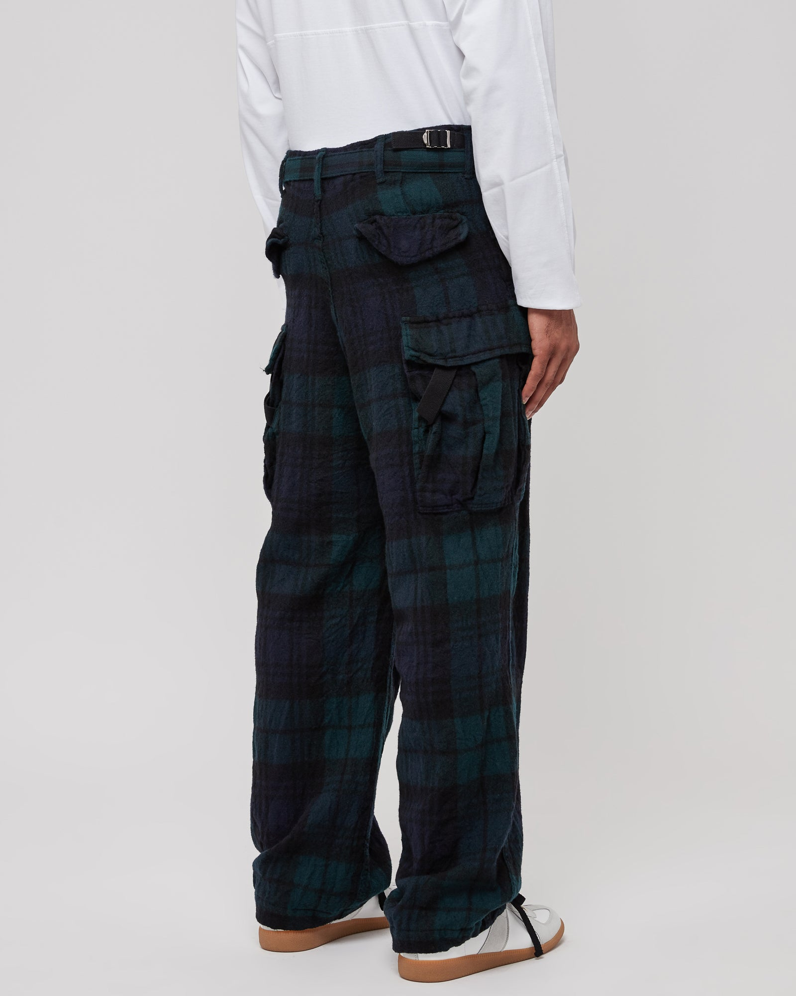 Check Shrivel Pants in Black & Green