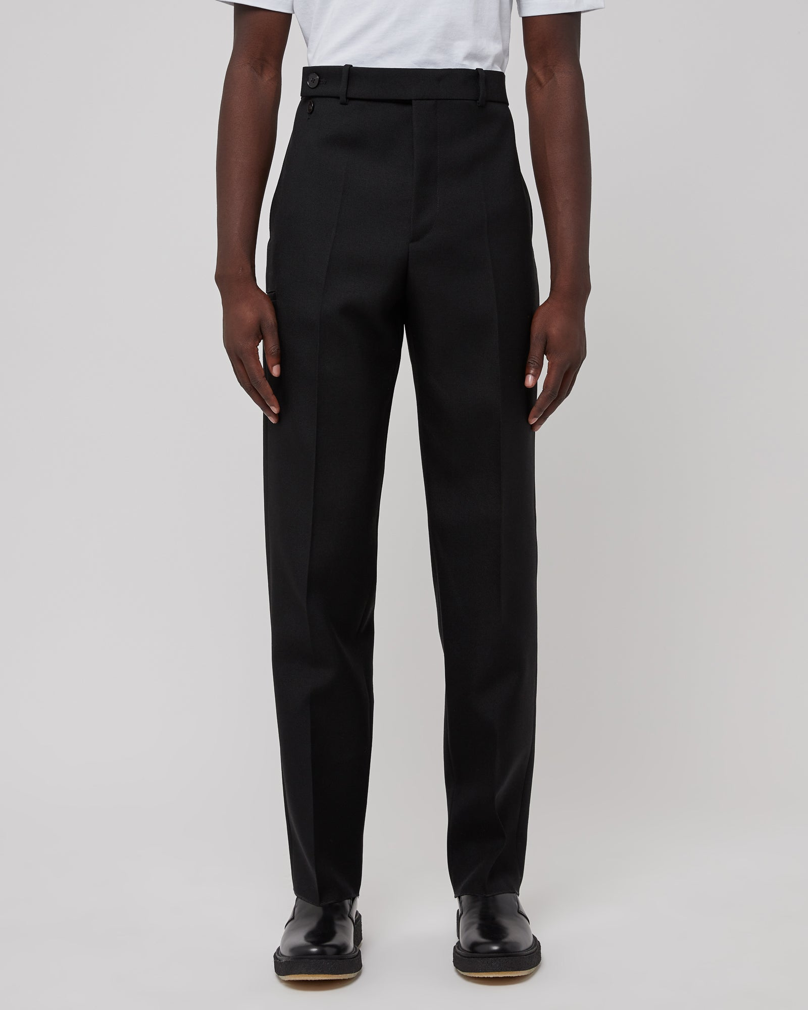Wool Trouser in Black