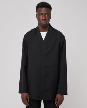 V-Collar Shirt in Black