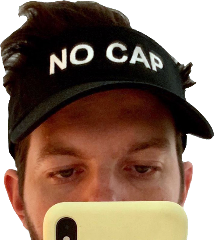 "The ""NO CAP"" Visor PIZZASLIME X DILLON FRANCIS"