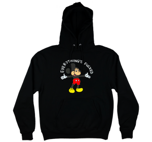 everything's fucked hoodie (black)