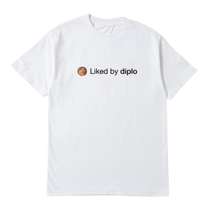"the ""Liked By Diplo"" T-Shirt - DIPLO X PIZZASLIME"
