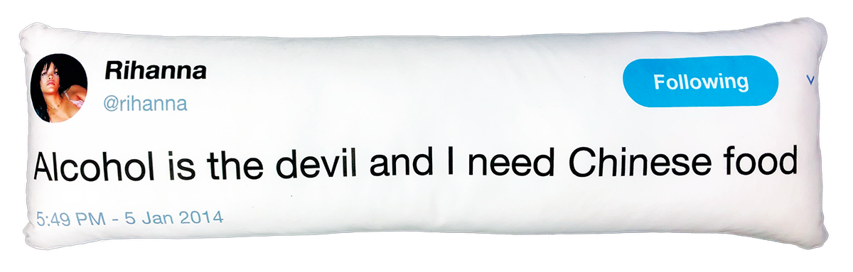 Rihanna Tweet Pillow