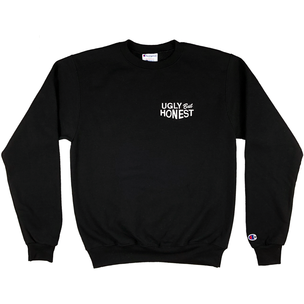 ugly but honest crewneck (embroidered) (black)