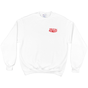 ugly but honest crewneck (embroidered) (white)