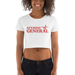 Attaway General Red Logo Crop Tee