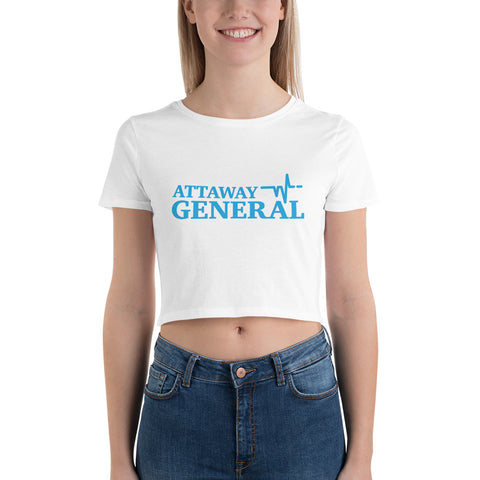 Attaway General Blue Logo Crop Tee