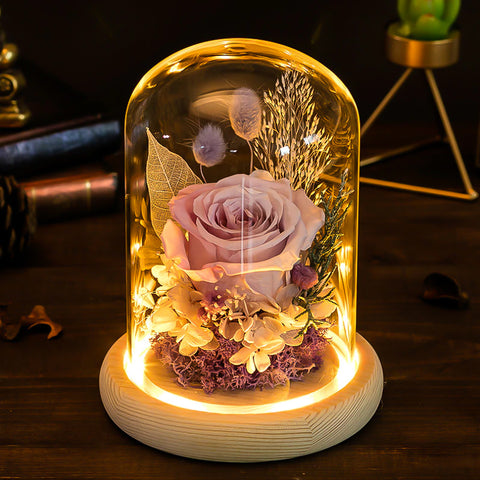 Glass Everrose Lamp