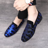 Men's Elegant Rhinestone Loafers