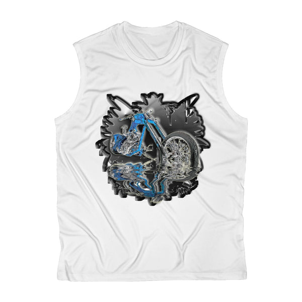 Blue Motorcycle Men's Sleeveless Performance Tee