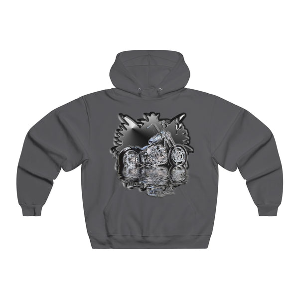 Black Motorcycle Men's  Hooded Sweatshirt