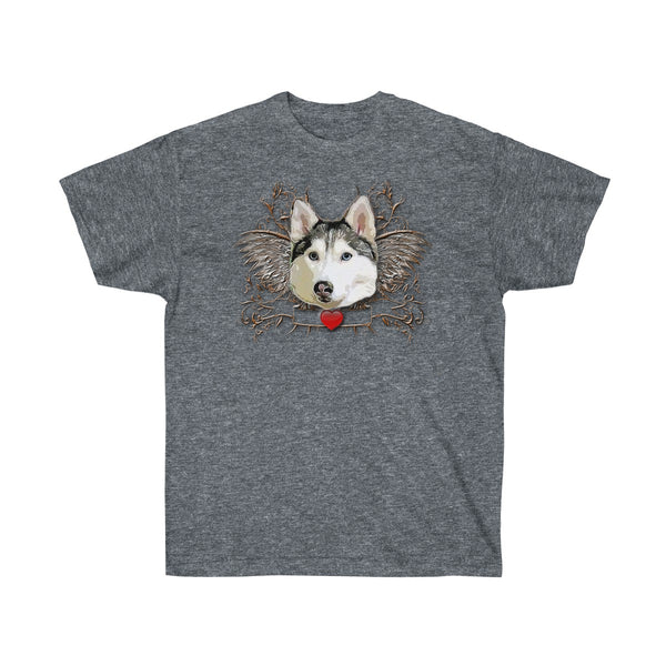 Husky Wings Unisex Cotton Tee