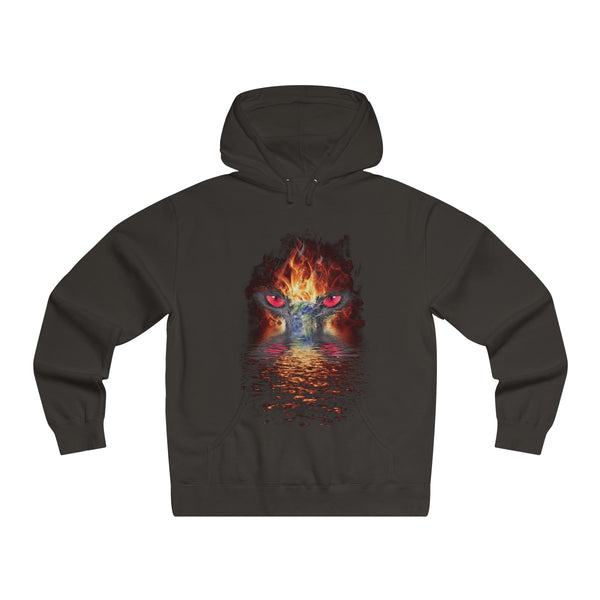 Earth on Fire Pullover Hooded Sweatshirt