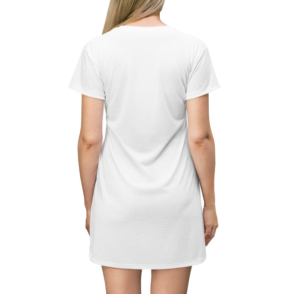 Husky Earth Watching T-shirt Dress