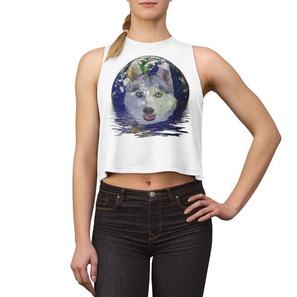 Husky Earth Watching Women's Crop top