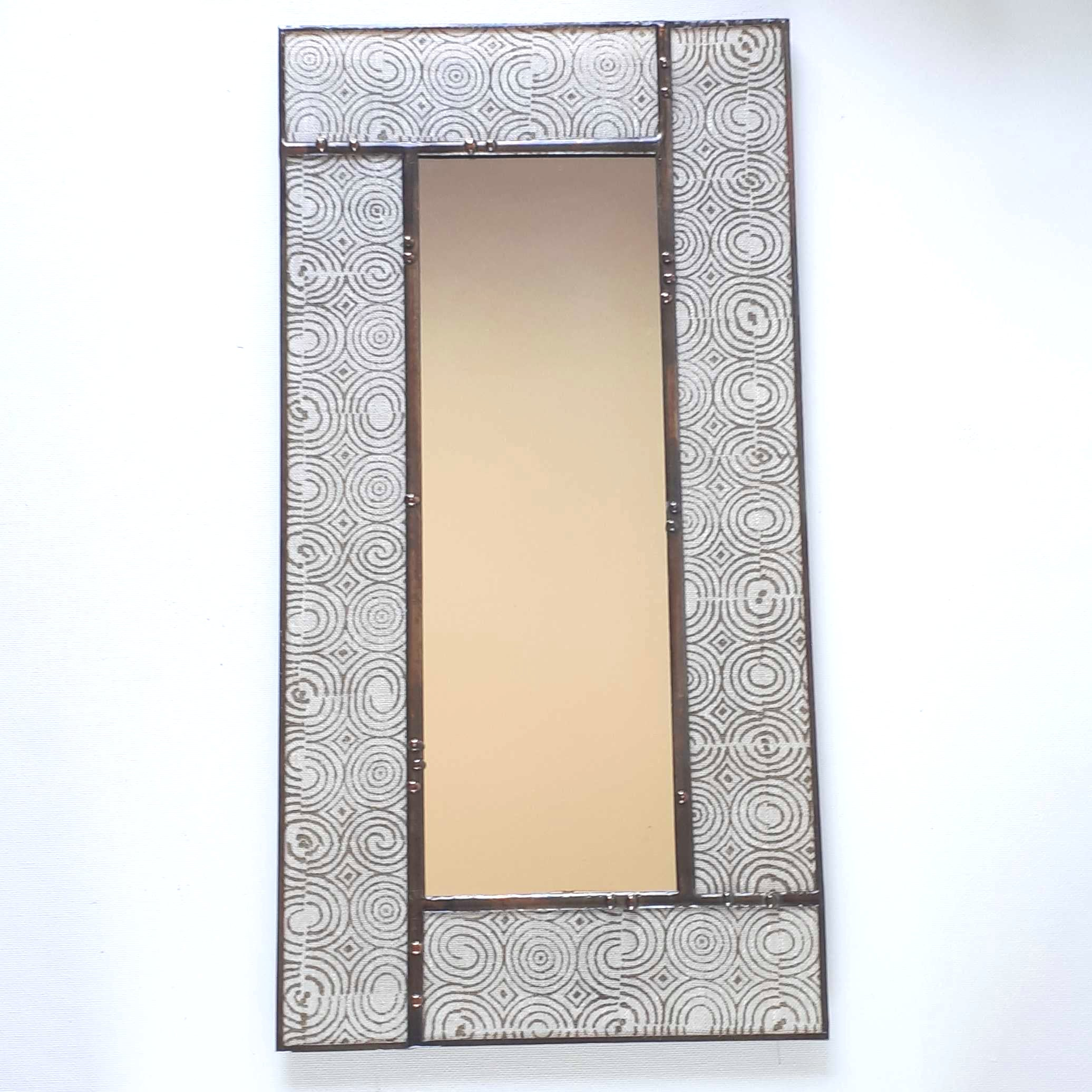Olive Indian Block-Print  Mirror