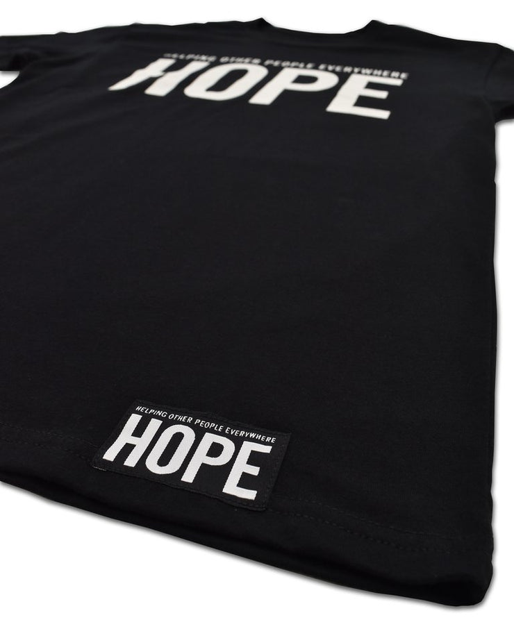 HOPE - LOGO TEE BLACK