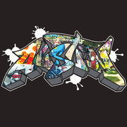 AUSTIN GRAFFITI TEE - BLACK