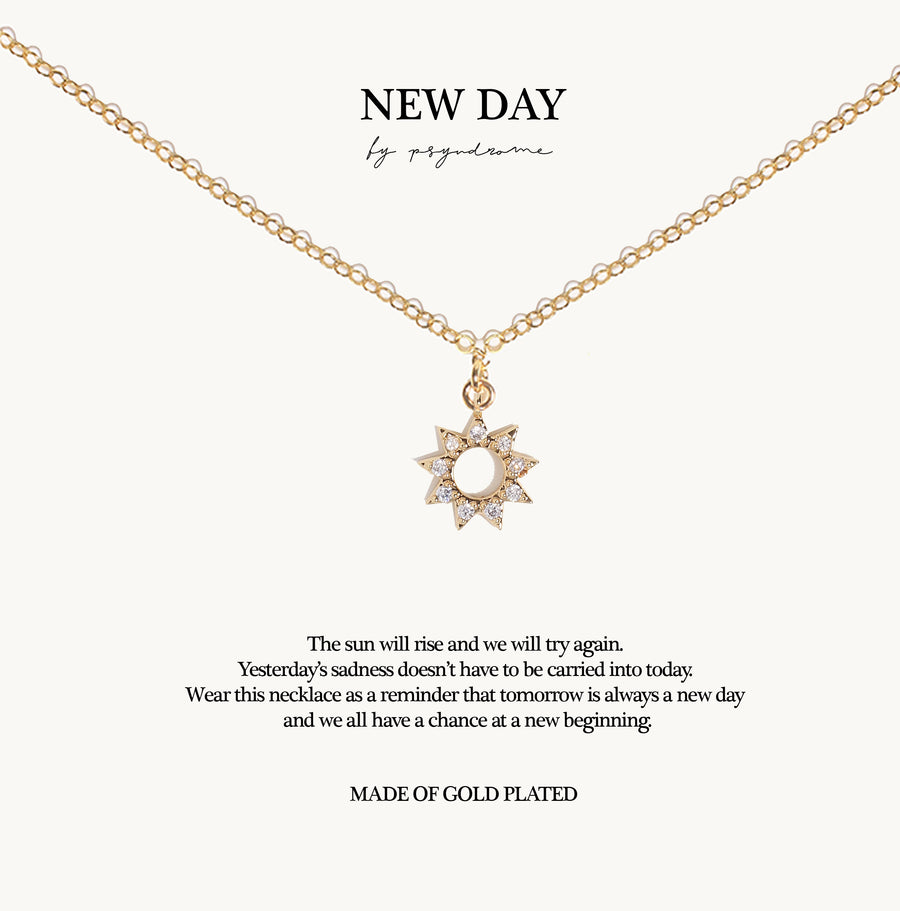 New Day Necklace (Hollow Sun)