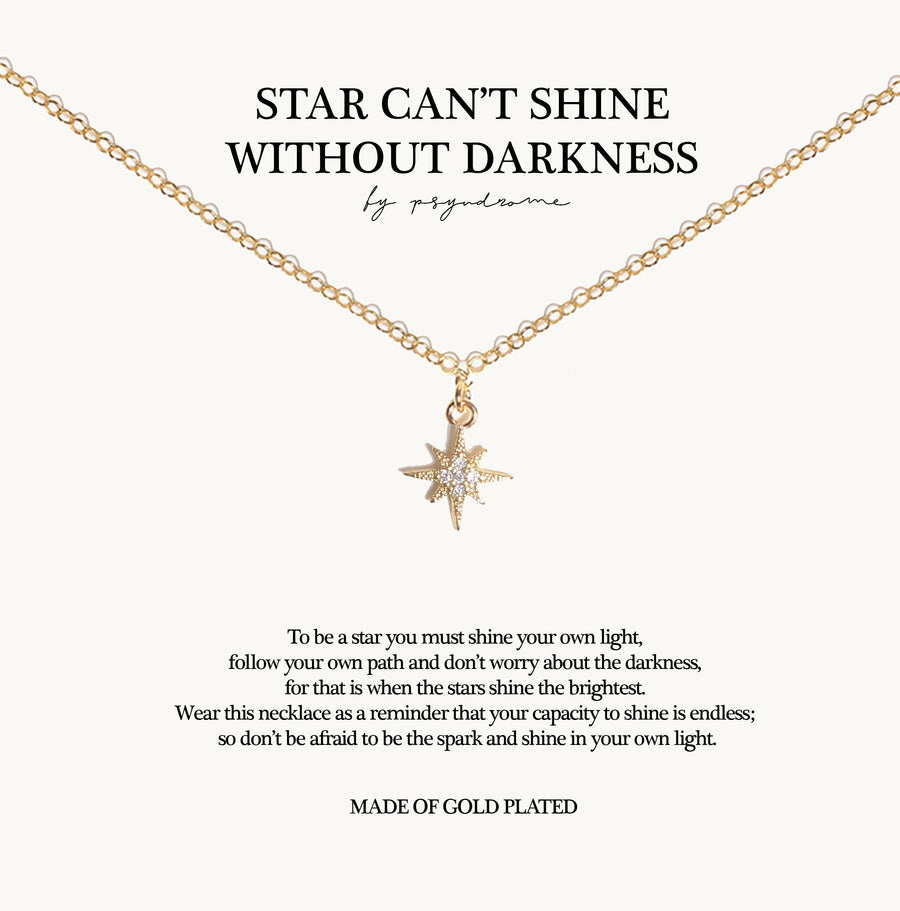 Stars Can't Shine Without Darkness Necklace (Small)