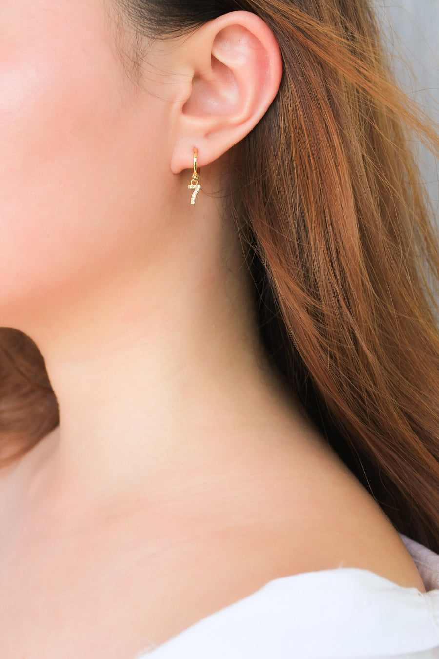 Personalised Earrings - Lucky Number