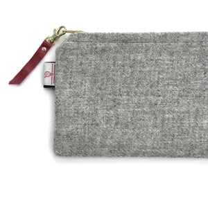 Silkscreen Printed Harris Tweed Pouch - Small