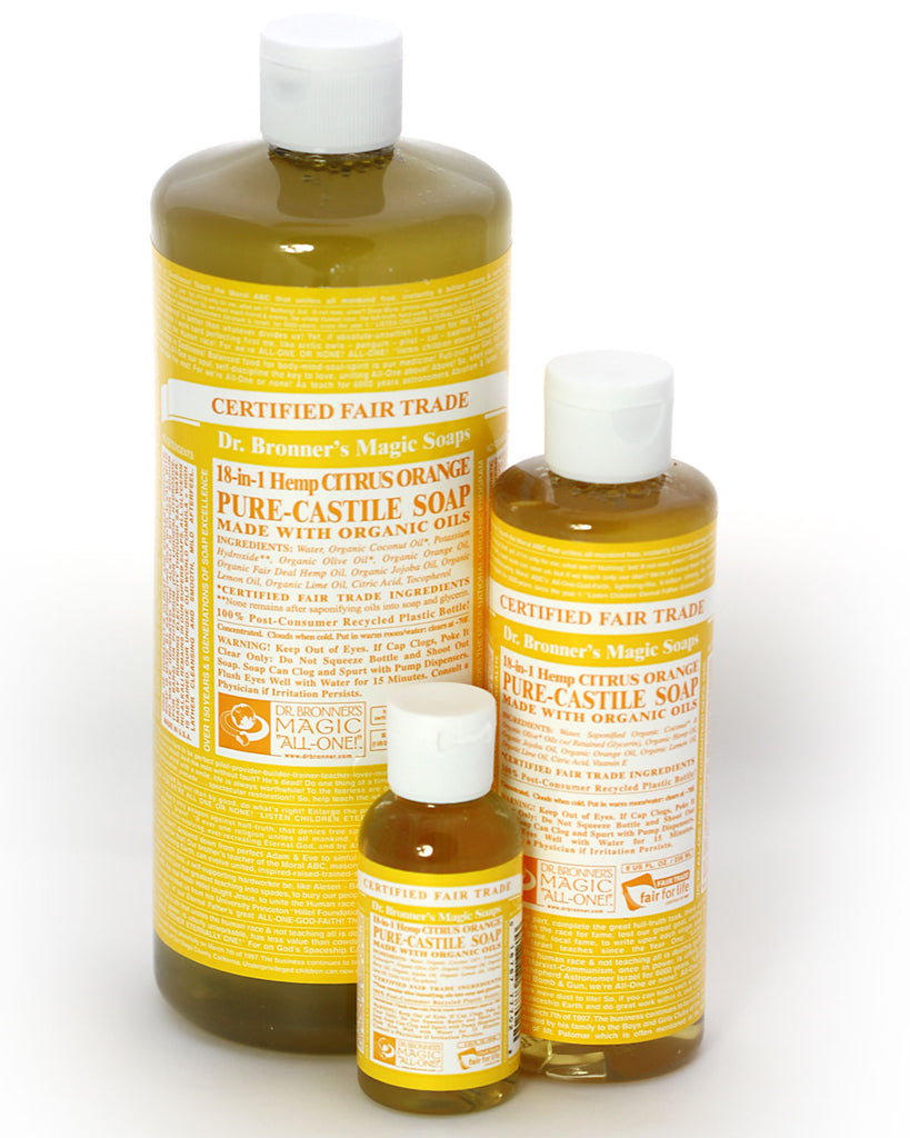 Dr. Bronner's Magic Liquid Soap Citrus Orange