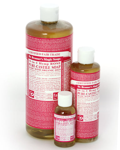 Dr. Bronner's Magic Liquid Soap Rose