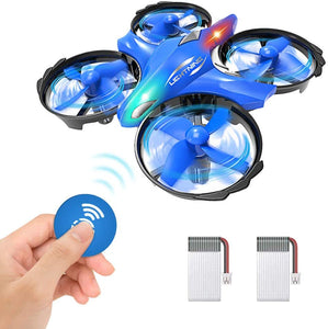 GEEKERA Mini Drone for Kids Helicopter, UFO Drones for Boys Toy Hands Gesture Quadcopter Flying Gift for Children Age 8+ Teenagers Adults Birthday Game with LED Light