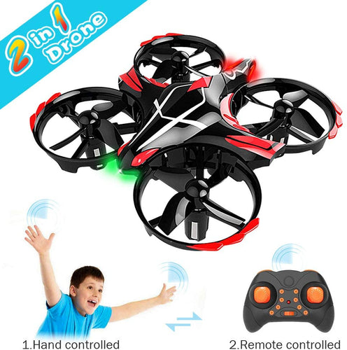GEEKERA Mini Drone for Children Flying Toy RC Helicopter with Gesture-Controlled Altitude Hold 360-Degree Rotations Toss Take Off and Shake Take off