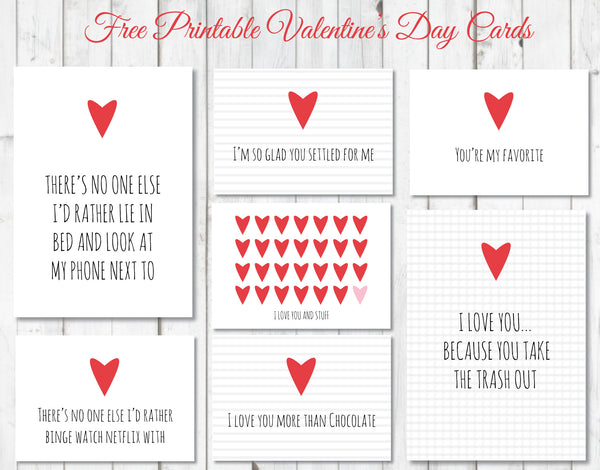 Free and funny printable valentine's day cards