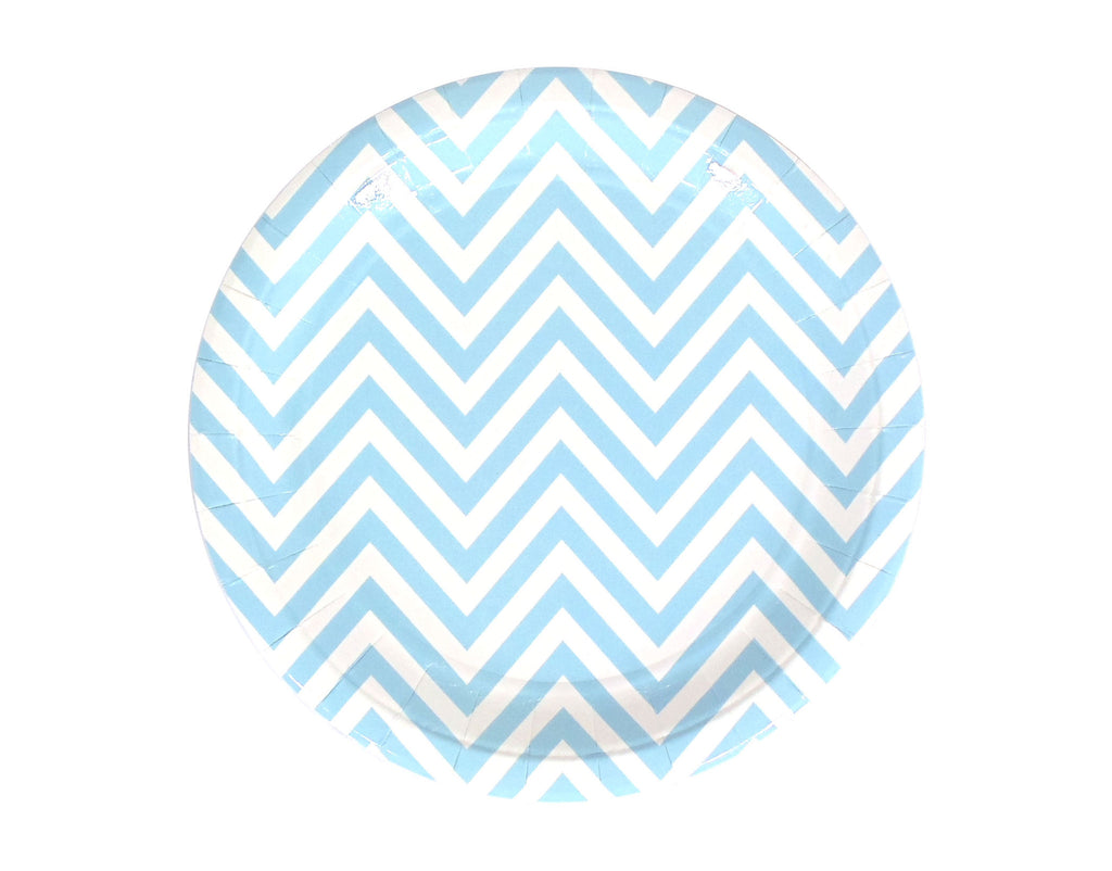 Chevron Dinner Plate - Blue