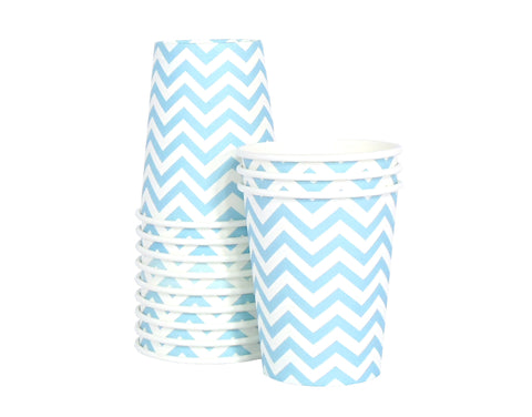 Chevron Paper Cups - Blue