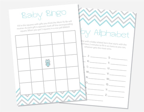 Blue Owl Baby Shower Games