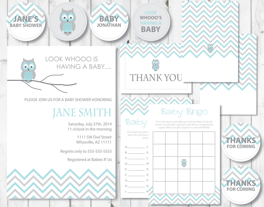 Blue Owl All In One Baby Shower Kit - Shop Party Boutique