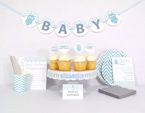 Blue Owl Baby Shower - Essential Kit