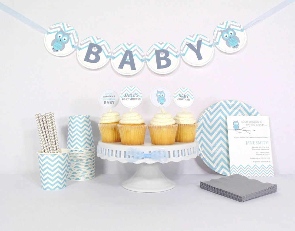 Blue Owl Baby Shower - Starter Kit