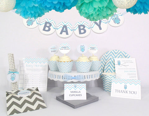 Blue Owl Baby Shower - Ultimate Kit