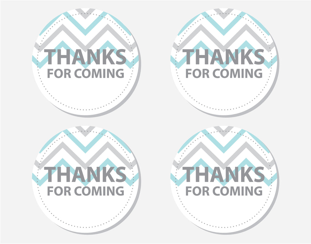 Blue Owl Thank You Labels