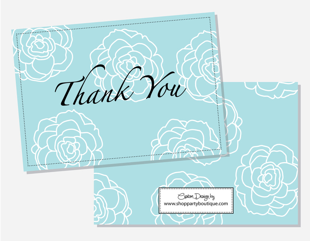 Something Blue Thank You Cards